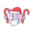 friendly viridans streptococci in santa cartoon vector image vector image