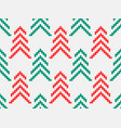 geometric christmas tree seamless pattern vector image