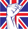 Great Britain fist vector image vector image