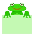 Green Frog vector image vector image