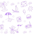 Hand Draw beach doodle vector image vector image