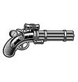 handgun in steampunk style vector image vector image