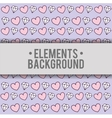 hearts diamonds background elements design vector image