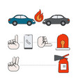 infographics car accident vector image