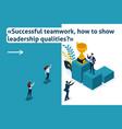 isometric leadership qualities vector image