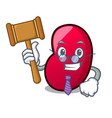 judge jelly bean mascot cartoon vector image vector image
