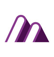 letter m abstract logo icon vector image vector image