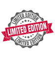 limited edition stamp sign seal vector image vector image