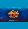 loading screen for slots game vector image vector image