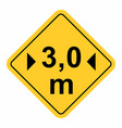 maximum width traffic sign vector image vector image
