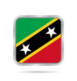metallic square flag of saint kitts and nevis vector image vector image