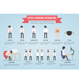 office syndrome infogr infographic template design vector image