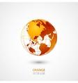 Orange Globe vector image vector image