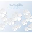 Paper floral background vector image