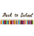 pencils back to school vector image