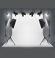 photography studio photo backdrop and spotlight vector image