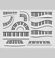 piano keyboards set vector image vector image