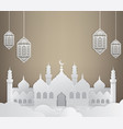 ramadan background with mosque vector image vector image