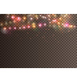 realistic christmas garland on transparent vector image vector image