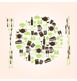 restaurant and pub icons plate shape eps10 vector image