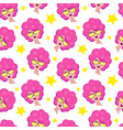 seamless pattern with girl vector image vector image