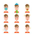 season and other disease avatars man face made in vector image vector image