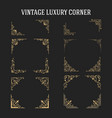 set vintage luxury corner design vector image vector image