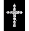 silver diamond cross vector image vector image