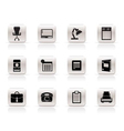 simple business and firm icons vector image vector image