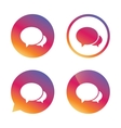 Speech bubbles icon Chat or blogging sign vector image vector image