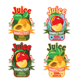 templates labels of juice from apple and apricot vector image