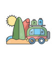 travel and vacation cartoons vector image