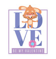 valentines day rabbit in love background vector image vector image