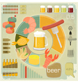 vintage infographics set - beer icons vector image vector image