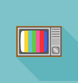 vintage television and vector image vector image