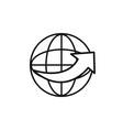 world around service technology internet line vector image vector image
