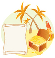 treasure island scene vector image