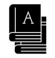 books - text books icon vector image