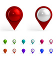 Colorful Map Tags vector image