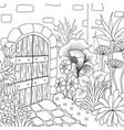 9 garden 3 vector image vector image