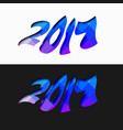 abstract 2017 lettering background vector image vector image