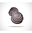 Abstract isolated violet shape vector image vector image