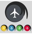 Airplane sign Plane symbol Travel icon Flight flat vector image