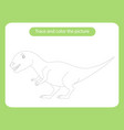 allosaurus dinosaur trace and color picture vector image vector image