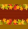 autumn festival frame background vector image vector image