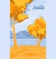 autumn rural background vector image vector image
