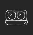 aviator sunglasses chalk white icon on dark vector image
