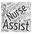 Become a Nurse Assistant Word Cloud Concept vector image vector image