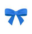 big bright blue bow holiday symbol beautiful vector image vector image