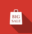 big sale bag icon isolated with long shadow vector image